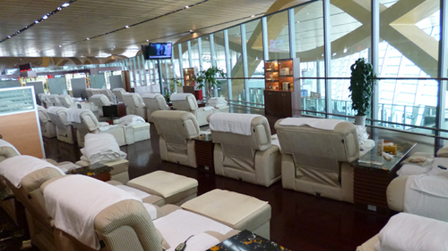 昆明空港内 有料休憩施設