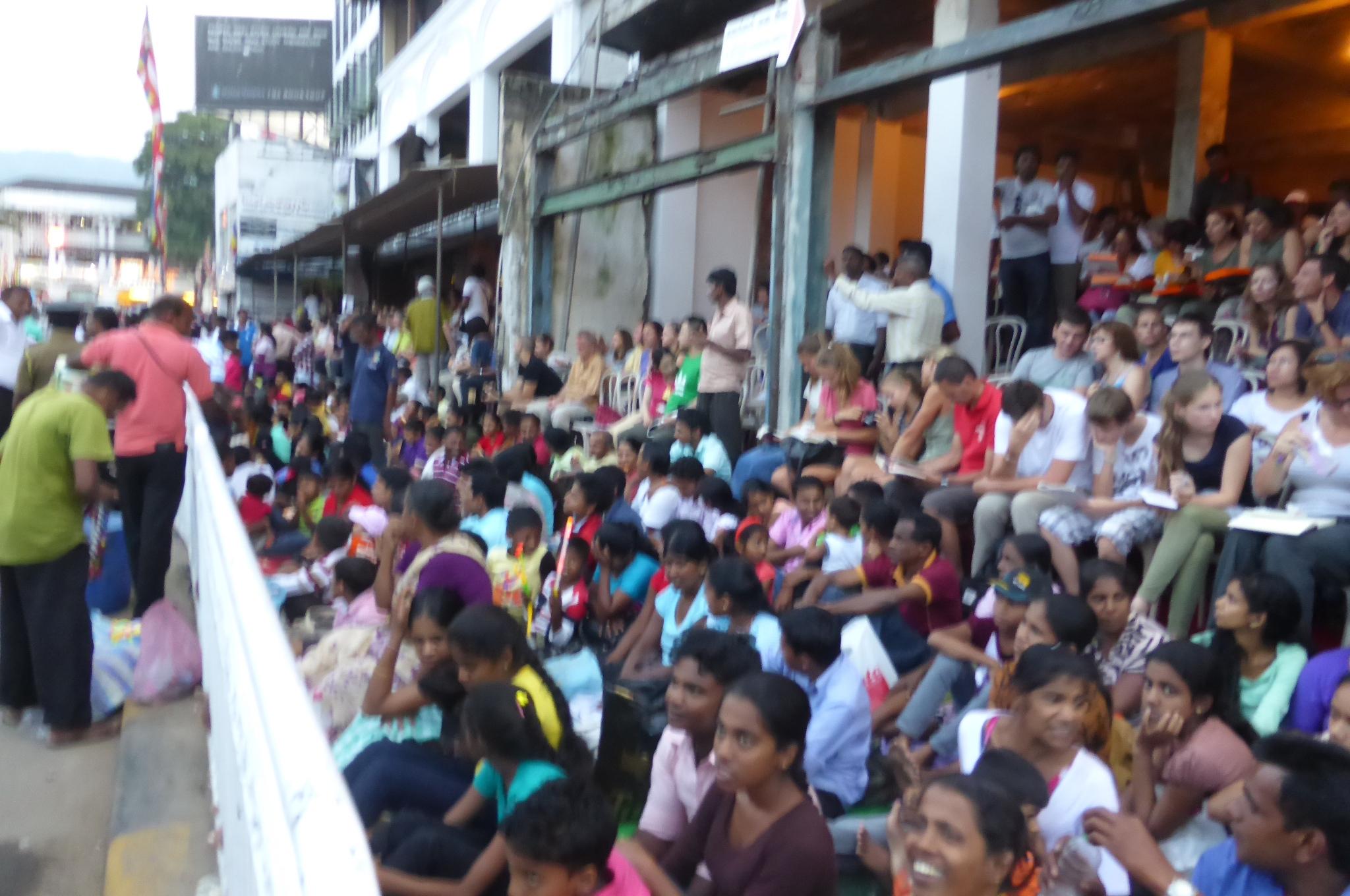 ペラヘラ祭り観客席