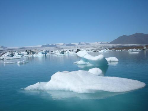 ヨークルスアゥロン氷河湖(アイスランド)