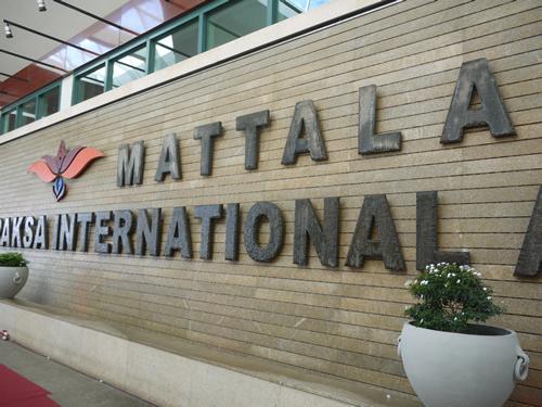 マッタラ空港玄関