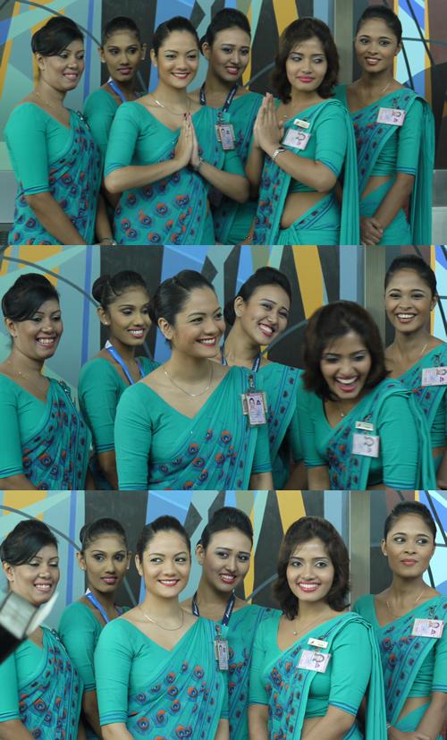 スリランカ航空CAの皆さん