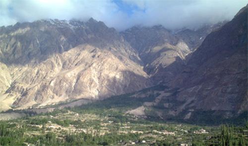 パキスタン北部の風景