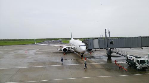 佐賀空港到着
