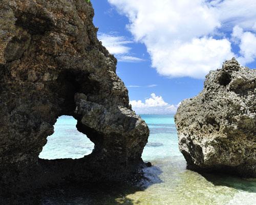 ハート岩 池間島