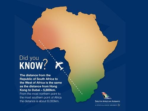 西アフリカから南アフリカは遠いのです