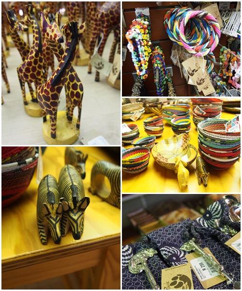 動物モチーフの飾り物やカラフルなアイテム