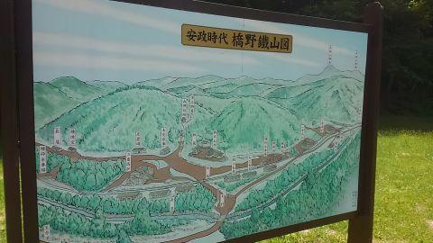 橋野鉱山看板