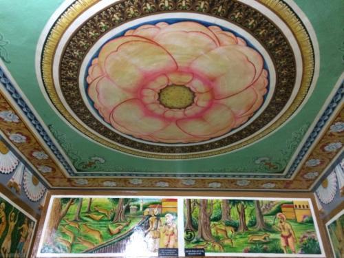 お寺の天井(沙羅双樹)