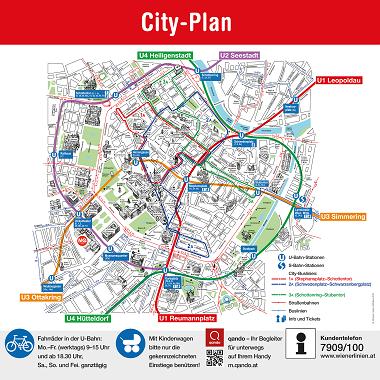 ウィーン市内路線図