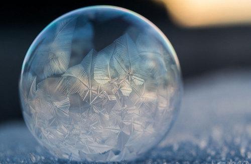 凍るシャボン玉2