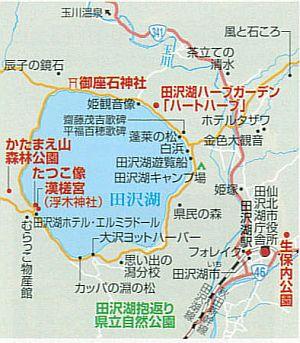 田沢湖地図