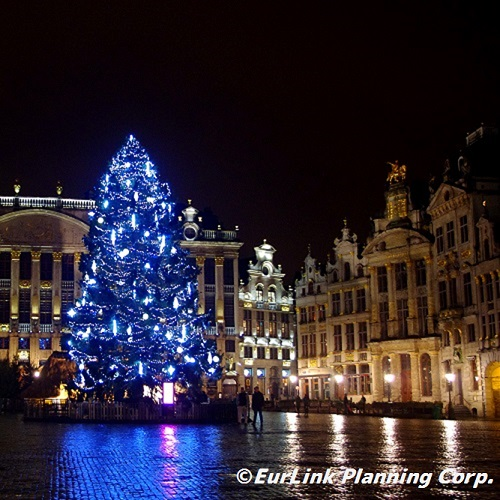 グランプラスのクリスマスツリー