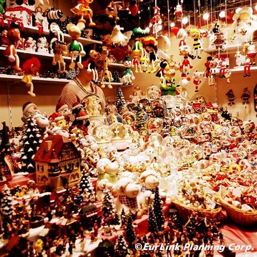 クリスマスグッズの屋台