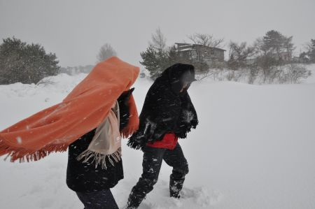 地吹雪体験1
