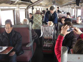 ストーブ列車車内販売