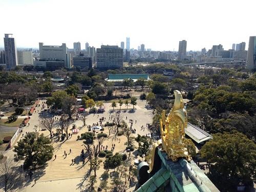 大阪城天守閣最上階