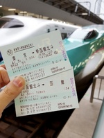 東京駅から函館までの切符