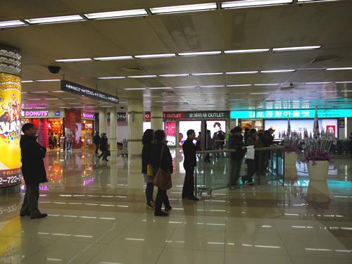 金浦空港到着ロビー
