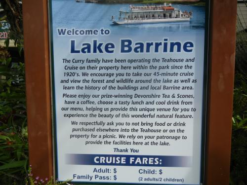 Lake Barrine Sign