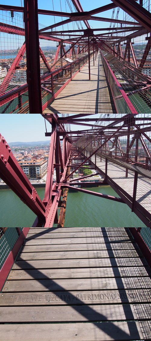 ビスカヤ橋の上