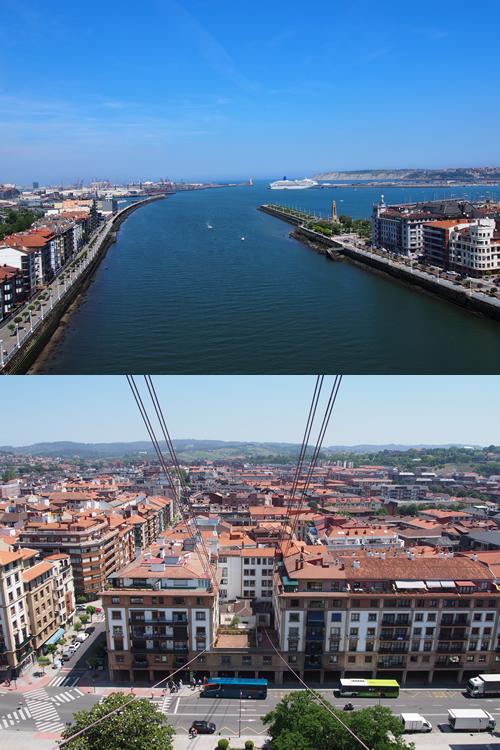 ビスカヤ橋からの眺め