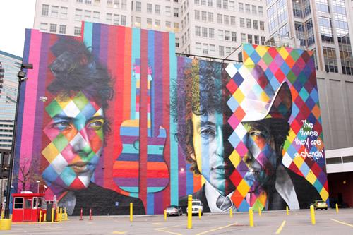 ボブ・ディランの巨大な壁画