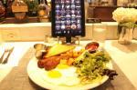 iPadで注文した朝食