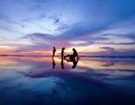 夕暮れ時のパドマビーチ