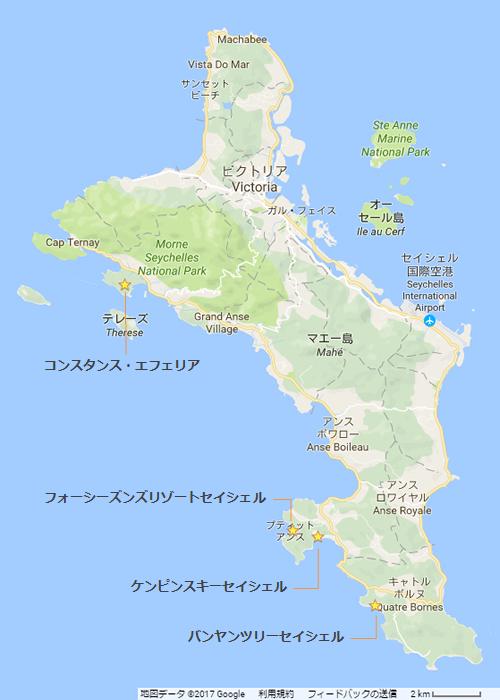 マヘ島地図