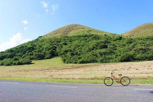自転車 山バック