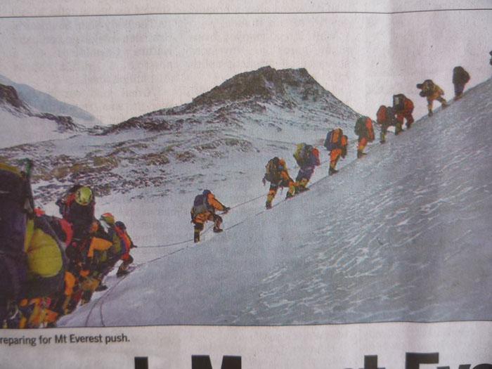 エヴェレスト登山