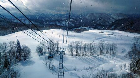 森吉山ゴンドラからの景色