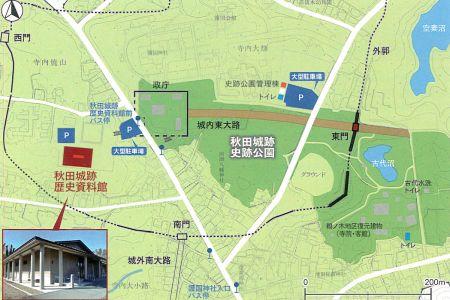 秋田城跡マップ
