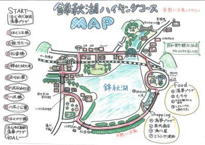 錦秋湖サイクリングマップ