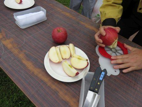 りんご試食