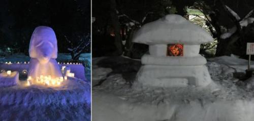 手作り雪像