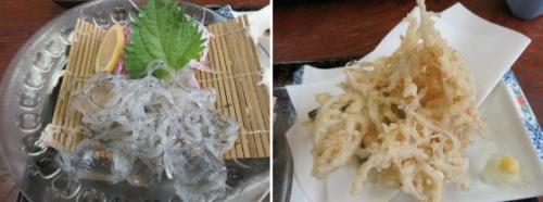 刺身と天ぷら