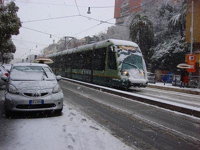 ローマ雪景色1