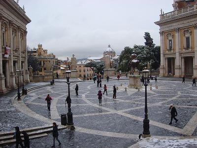ローマ雪景色3