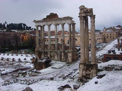 ローマ雪景色4