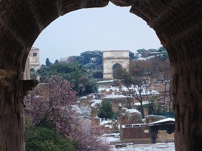 ローマ雪景色5