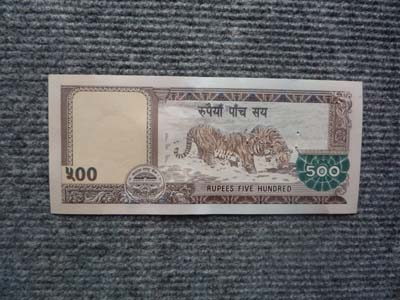 500ルピー ウラ