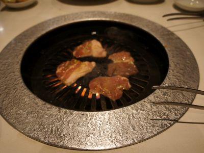 白金豚の焼肉