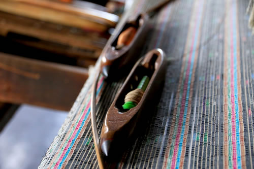 ハス糸織工房 作業2