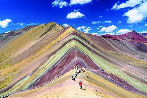 ペルー政観レインボーマウンテン