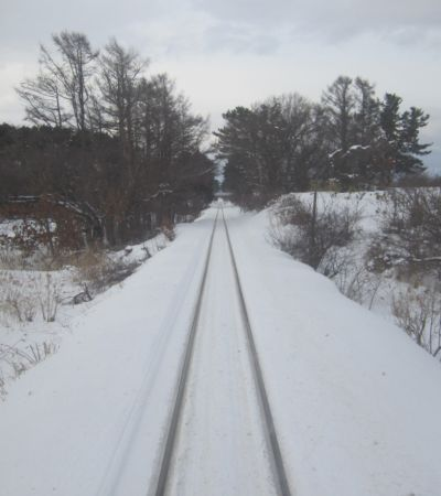 ストーブ列車 車窓風景