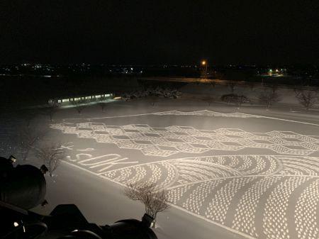 冬の田んぼアート1