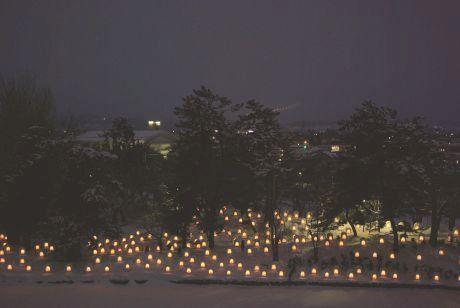 かまくら弘前城燈籠まつり
