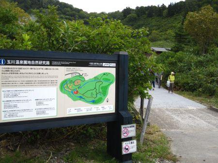 玉川温泉園地自然研究路入口
