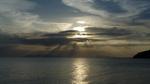 トンヤンビーチからの夕焼け
